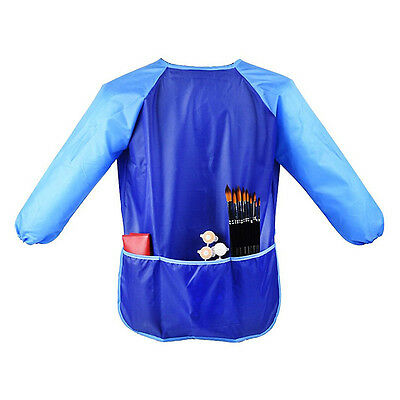 Waterproof Children's Craft Blue Apron Smock for Painting Drawing Kids Art Class