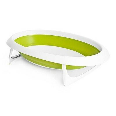 Boon Inc. Naked Collapsible Baby Bathtub- Green/White