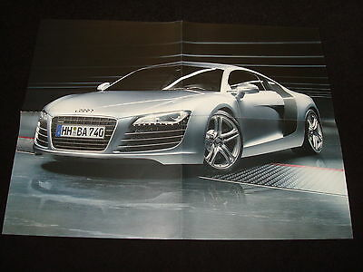 AUDI R8 COUPE POSTER DOUBLE SIDED AUDI ISSUED 560mm X 420mm