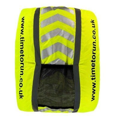 NEW Time to Run Hi Viz Reflective Waterproof Rucksack Backpack Cover