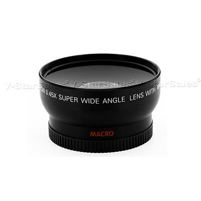 Wide Angle .45X lens w/ MACRO for CANON T1i, T2i, T3i with 18-55 75-300 55-250