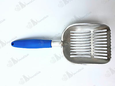 Metal Cat Litter Scoop Polished New Cat/Kitten Light Large & Strong Aluminum