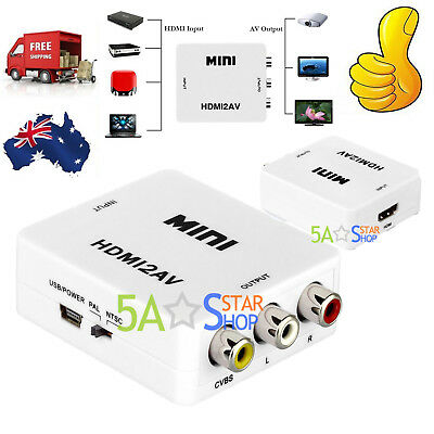 HDMI to RCA Composite AV CVBS 3RCA Video Cable Converter 1080p Downscaling AUS