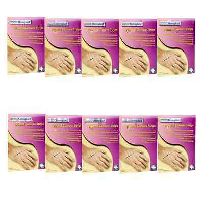 10 Pack Sterile Skin Closure Wound Dressing Strip Butterfly Stitch 6x75mm (PL13)