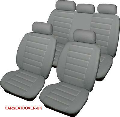 Toyota Prius  - GREY Padded Leather Look Car Seat Covers - Full Set