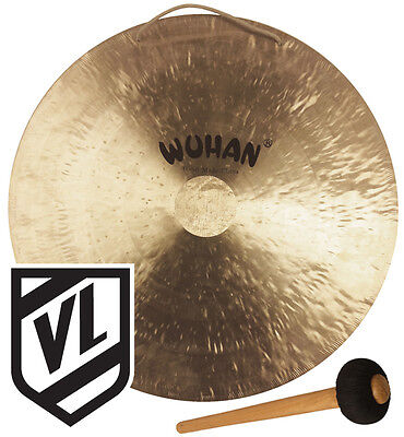 "Wuhan 22"" Wind Gong with Mallet Beater WU007-22 - Deep Rich Powerful Tone"