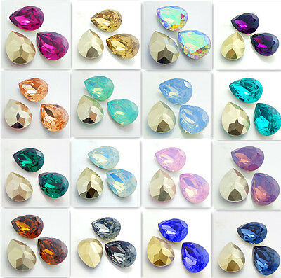 10PCS Teardrop Resin rhinestones  beads 18X25mm DIY