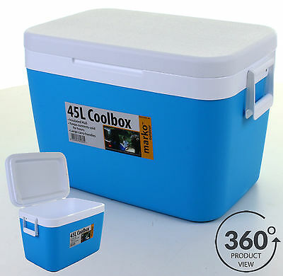 45L Cool Box Portable Coolbox Insulated Cooler Ice Food Drinks Travel Camping