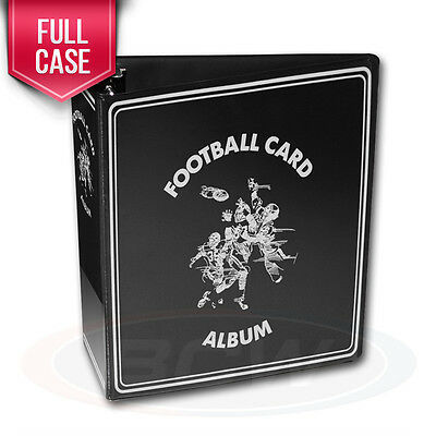 """Case of 12 BCW Black Football Card Collection 3"""" D-Ring Albums binders books"""