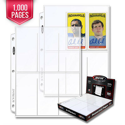 1000 BCW Pro 6-Pocket Pages - Holds Six (6) - 2 1/2 x 5 1/2 Cards or Photos