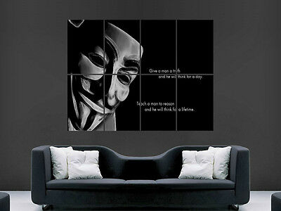 Canvas Picture Prints Thug Hooligan Anonymous Quote Wall Art Large Poster
