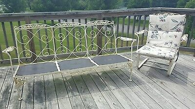 Vintage Cast Iron Garden Furniture made by Meadowcraft