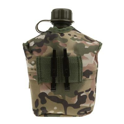 Outdoor Military Camping Army Water Bottle Canteen Cup with Camouflage Pouch