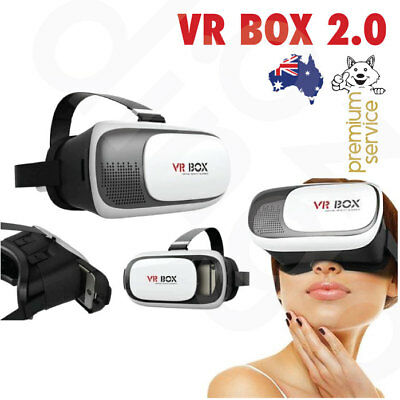 VR BOX 2.0 Headset Goggles Glasses 3D Cardboard Google iOS Android Games Movies