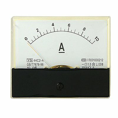 1Pcs DC 10A Analog Panel AMP Current Meter Ammeter Gauge 44C2 DC 0-10A