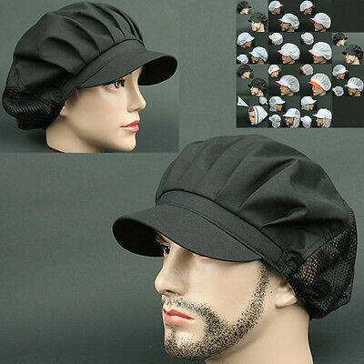 COOK half Mesh BLACK chef catering baker Kitchen food factory Worker Hat