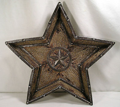 "Western Lone Star Wall Hanging by Hobby Lobby,Large 16"" Resin Star Dish,Cowboy"