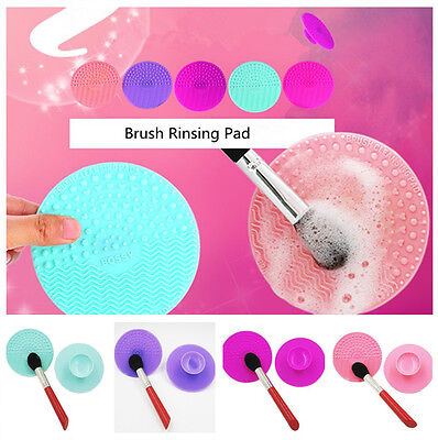 1x Portable Silicone Makeup Brush Rinsing Pad Cosmetic Cleaning Scrubber Mat UK