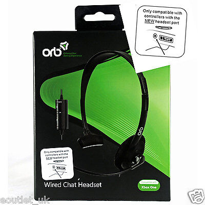 Official ORB Wired Chat Headset for Microsoft XBox ONE X1 NEW