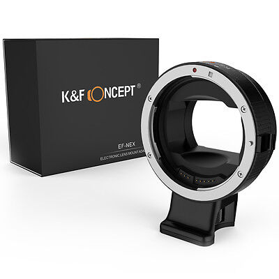 Auto Focus Automatic Canon EOS EF lens adapter ring  to Sony NEX Alpha E-mount