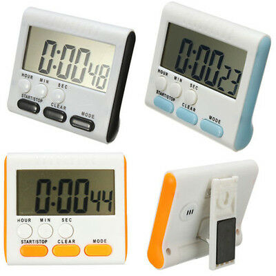 LCD Digital Cooking Kitchen Countdown Timer with Loud Alarm Large Clock