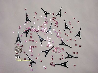 Wedding Table Scatters Foil Confetti Eiffel Tower Mix -  Pink