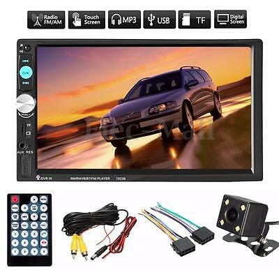 "7"" HD Touchscreen 2DIN Autoradio Bluetooth MP5 FM Player MP5 USB +Rückfahrkamera"