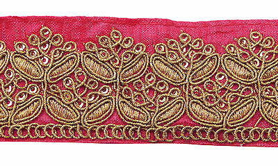 Embroidered Crafting Lace 4 Cm Wide Sewing Supply Metallic Fabric Trim By 1 Yard