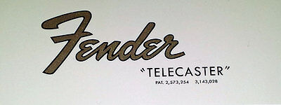 Décalque decal Telecaster Tele 1965 - 1967 idem original super qualité !!!