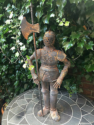 Small Suit of Armour Knight Antiqued Rusty Metal Shabby Chic Indoor or Outdoor
