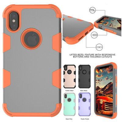 Shockproof Armor Rugged Rubber Hybrid Case Cover For iPhone 6 7 Plus X XR XS Max