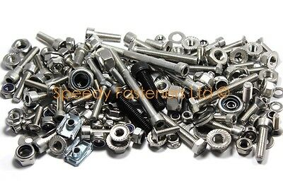 Zip Lightning Stainless Bolts Nuts for Chassis Wheel Hubs Bodywork Plastics etc
