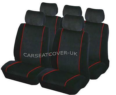 Mazda CX-5  - Luxury BLK/RED Car Seat Covers Protectors - Full Set