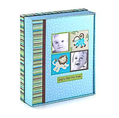 Baby's First Five Years Keepsake Record Book Storage Silly Monkey Baby Boy New