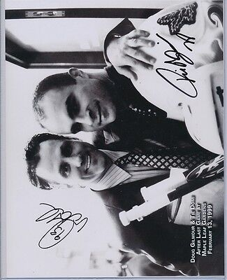 Signed Doug Gilmour Tie Domi Maple Leaf Gardens Photo