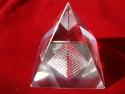3D Vastu Crystal Pyramid~For Vastu Dosh Correction & Positive Energy~Energized