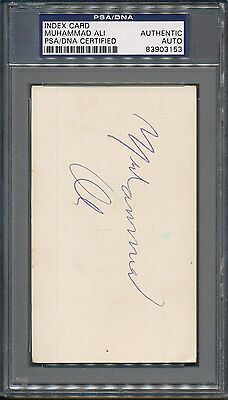 Muhammad Ali Signed Index Card PSA/DNA Certified Authentic Auto Autograph *3153