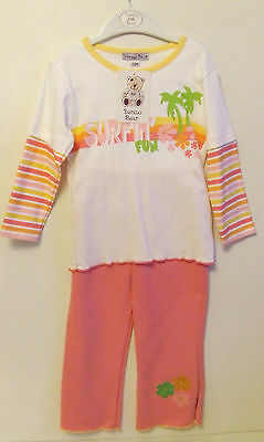 Girls Baby White/pink Flower Top/trousers Outfit Set - 23 Months - New