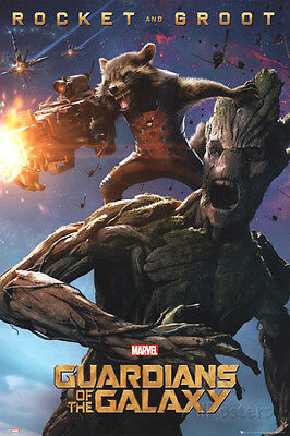 Guardians Of The Galaxy - Rocket & Groot Poster Print, 24x36