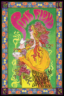 Pink Floyd Marquee '66 Poster Print 24x36 Rock & Pop Music
