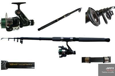 7ft  tele rod and carbo strike reel with line
