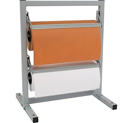 "Bulman T342R-15 15"" Two Deck Tower Paper Rack with Serrated Blade"