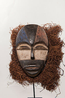 Buyu Face Mask, Democratic Republic of Congo, Central African Art.