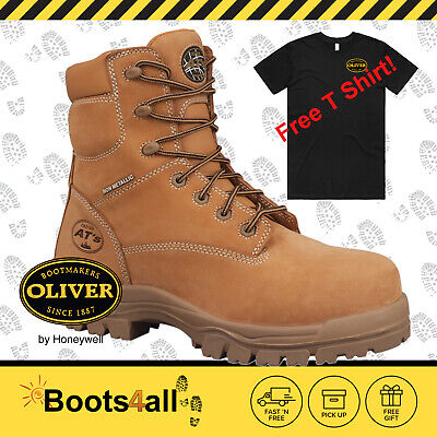 Oliver Safety Work Boots Non Metallic Lace Up METAL FREE 45632 Free Express Post