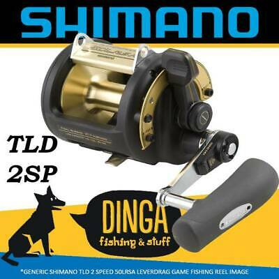Shimano TLD 50LRSA Lever Drag Game Fishing Reel 2 Speed