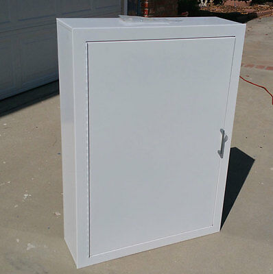Croker Fire Hose Cabinet - Solid Door/Style E- Surface Mount-White