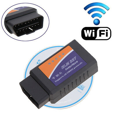 ELM327 WiFi OBD2 II Car Diagnostics Scanner Scan Tool for iOS iPhone Android  PC