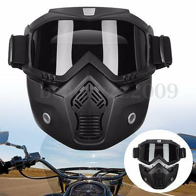 Arrival Detachable Modular Face Mask Shield Goggles For Motorcycle Bike Helmet