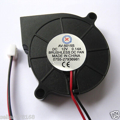 10 PCS DC 12V Fans 50MM x 15MM Turbine Brushless Cooling Blower Fan 5015s