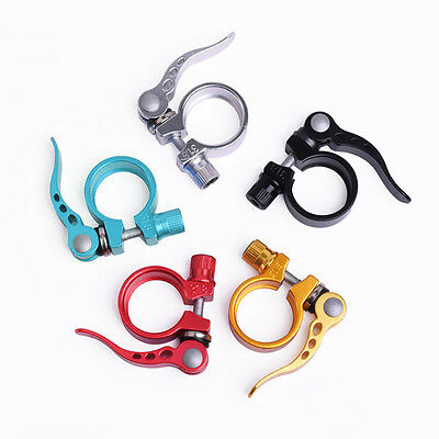 New MTB Bike Bicycle Aluminum Quick Release 31.8mm Seatpost Clamp Sit tube Clip